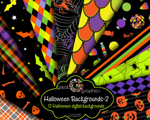 Halloween Digital Paper Printable Halloween Party Paper Halloween Candy Bat Jack o Lantern Pumpkin Invitation Paper - Instant Download