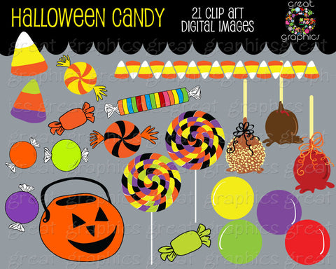 Halloween Clipart Halloween Digital Clipart Halloween Candy Printable Clip Art Candy Corn Clipart - Instant Download