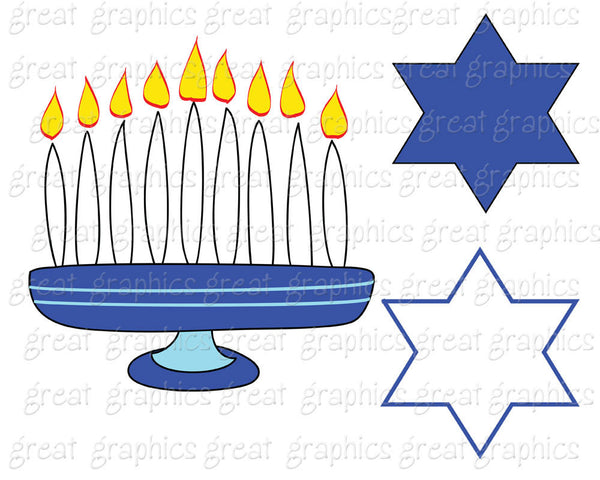 Hanukkah Clip Art Printable Hanukkah Clipart Digital Hanukkah Dreidel Menorah Digital Clipart Chanukah Invitation Clipart - Instant Download