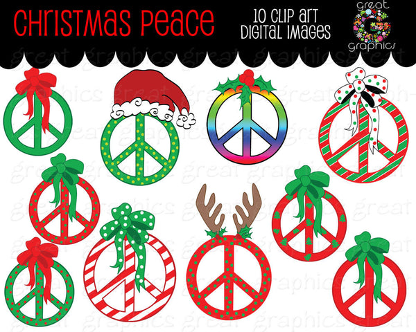 Christmas Clipart Peace Sign Clip Art Digital Clip Art Christmas Clip Art Printable Christmas Clipart Peace Sign Clipart - Instant Download