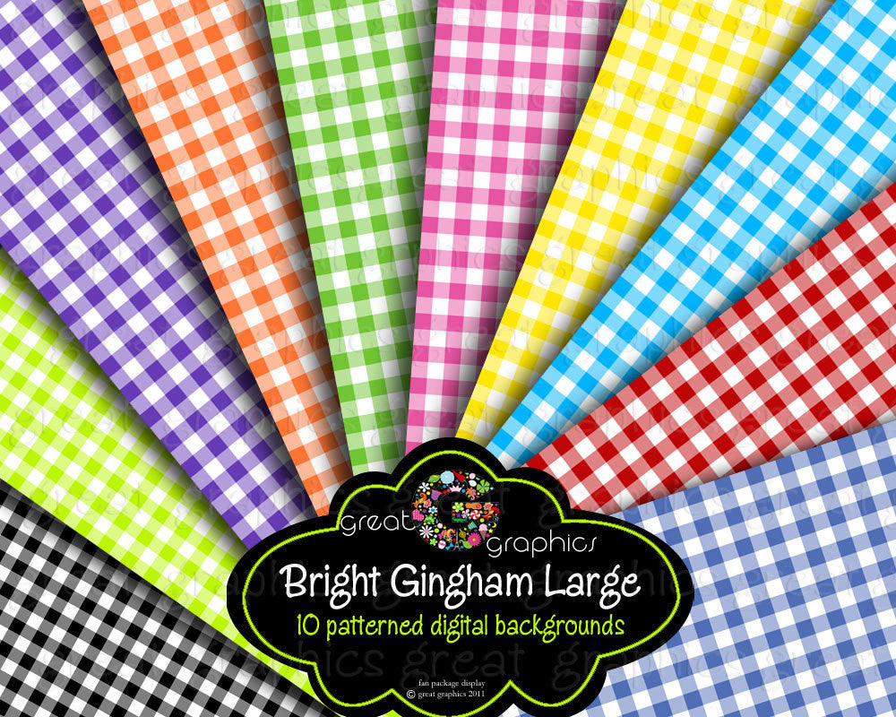 Gingham Party Paper, Gingham Paper, Gingham Digital Paper, Background Paper, Digital Paper, Instant Download