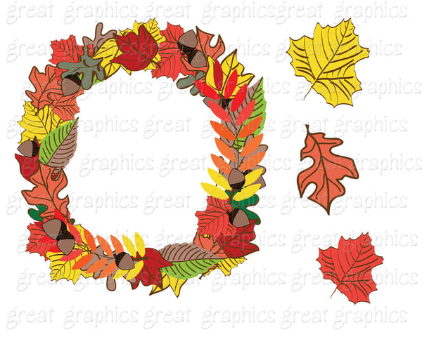Thanksgiving Clip Art Thanksgiving Digital Clipart Turkey Clip Art Printable Thanksgiving Clipart Pilgrim Hat Wreath - Instant Download