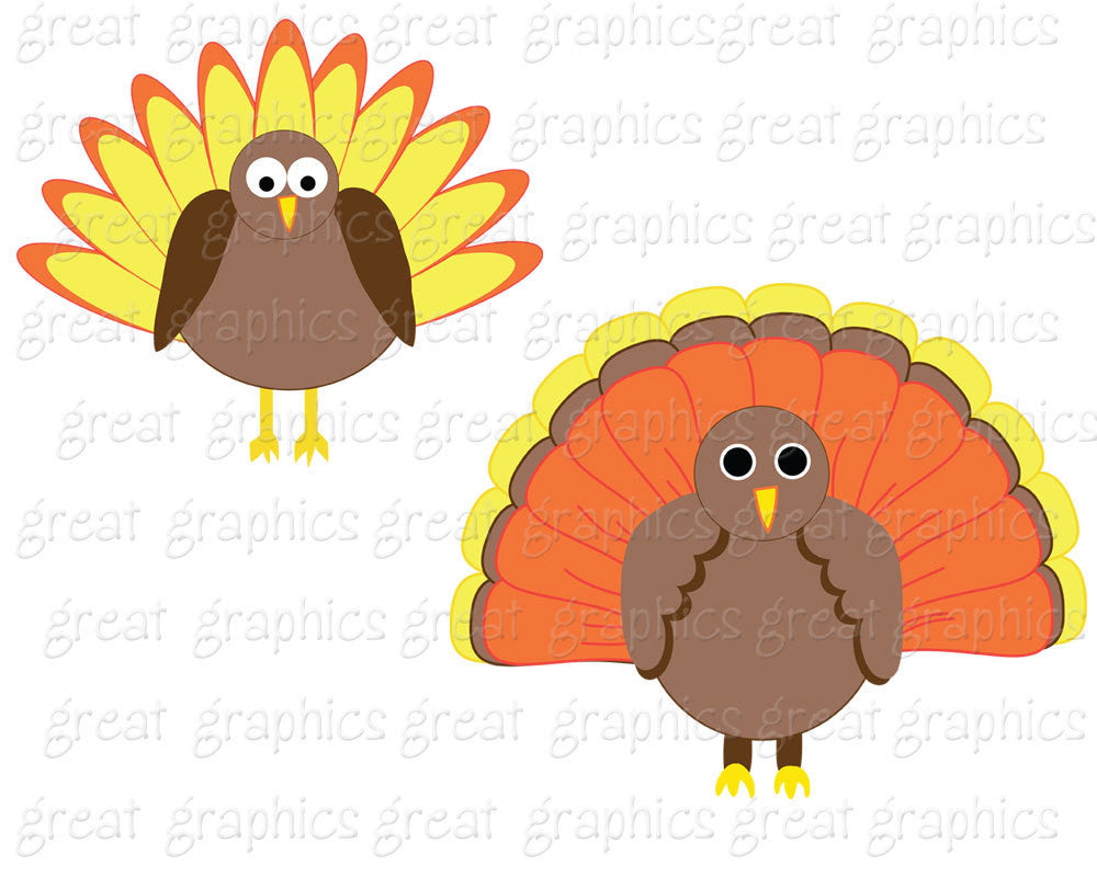 Thanksgiving Clip Art Thanksgiving Digital Clipart Turkey Clip Art