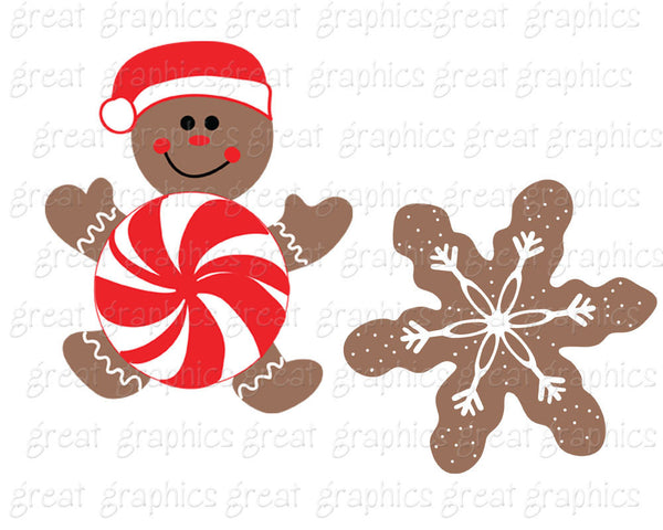 Gingerbread Clipart Gingerbread Man Christmas Digital Clip Art Cookie Clip Art Printable Christmas Clipart - Instant Download