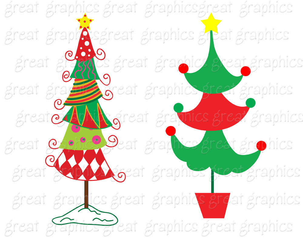 christmas tree clipart whimsical christmas digital clip art christmas tree printable christmas tree clipart instant