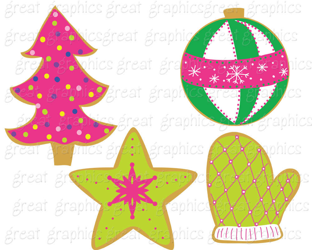 Christmas Cookie Clip Art Christmas Clipart Digital Christmas ...