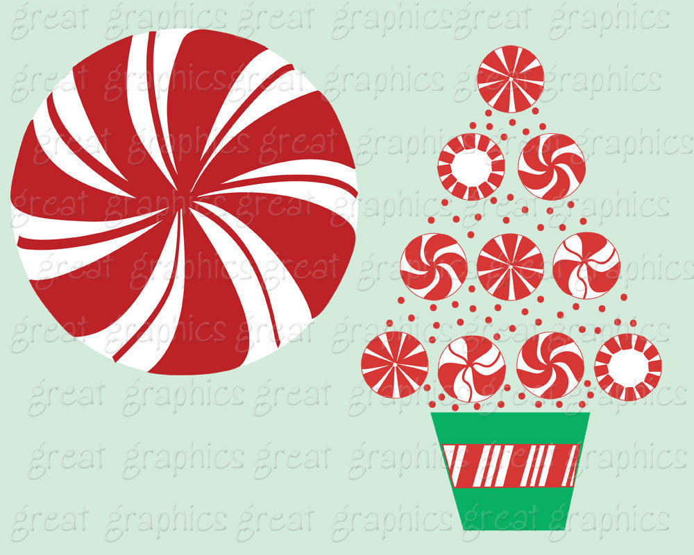 Christmas Candy Clipart.Christmas Candy Clip Art Christmas Clipart Peppermint Candy Clip Art Printable Invitation Party Digital Clipart Instant Download