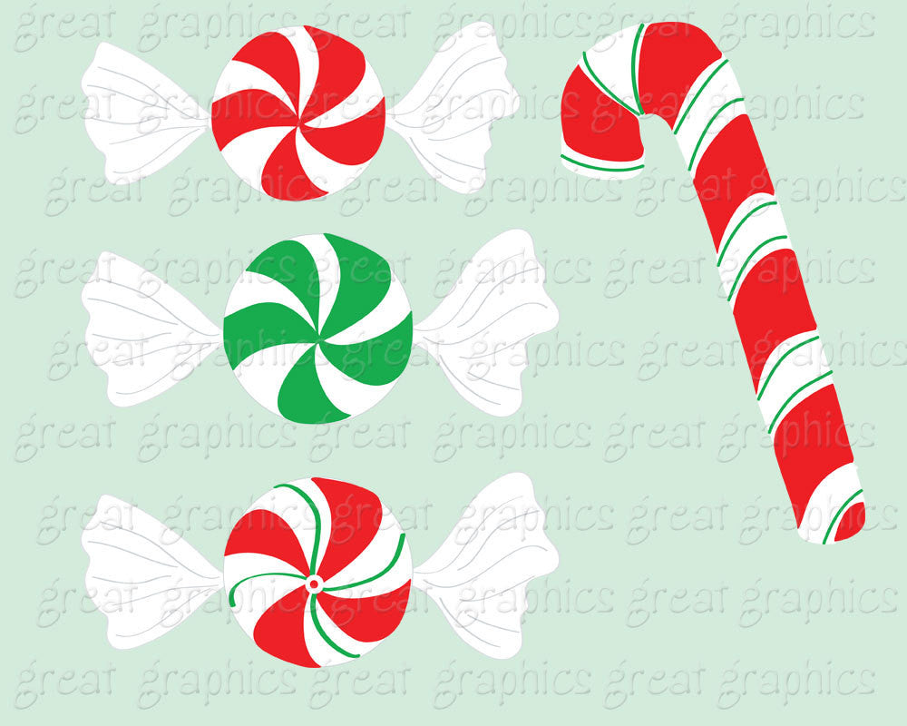 Christmas Candy Clip Art Christmas Clipart Peppermint Candy Clip ...