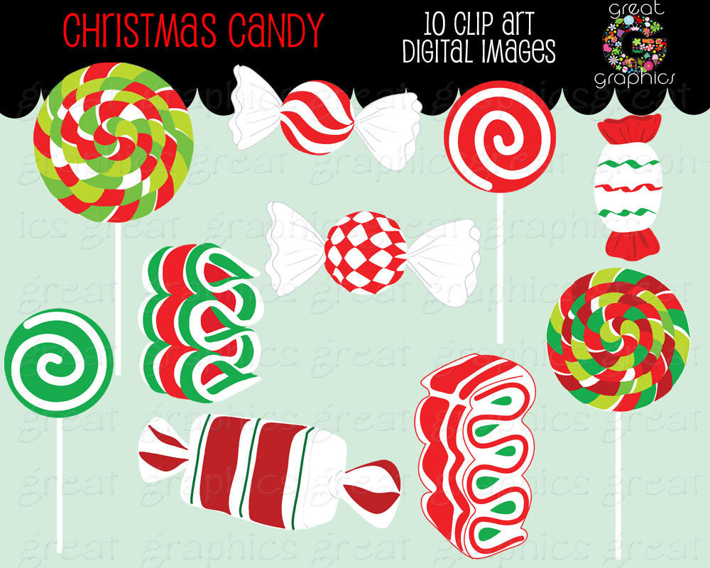 Christmas Candy Clip Art Christmas Clipart Digital Christmas Candy Clipart Peppermint Candy Clipart Holiday Clipart - Instant Download