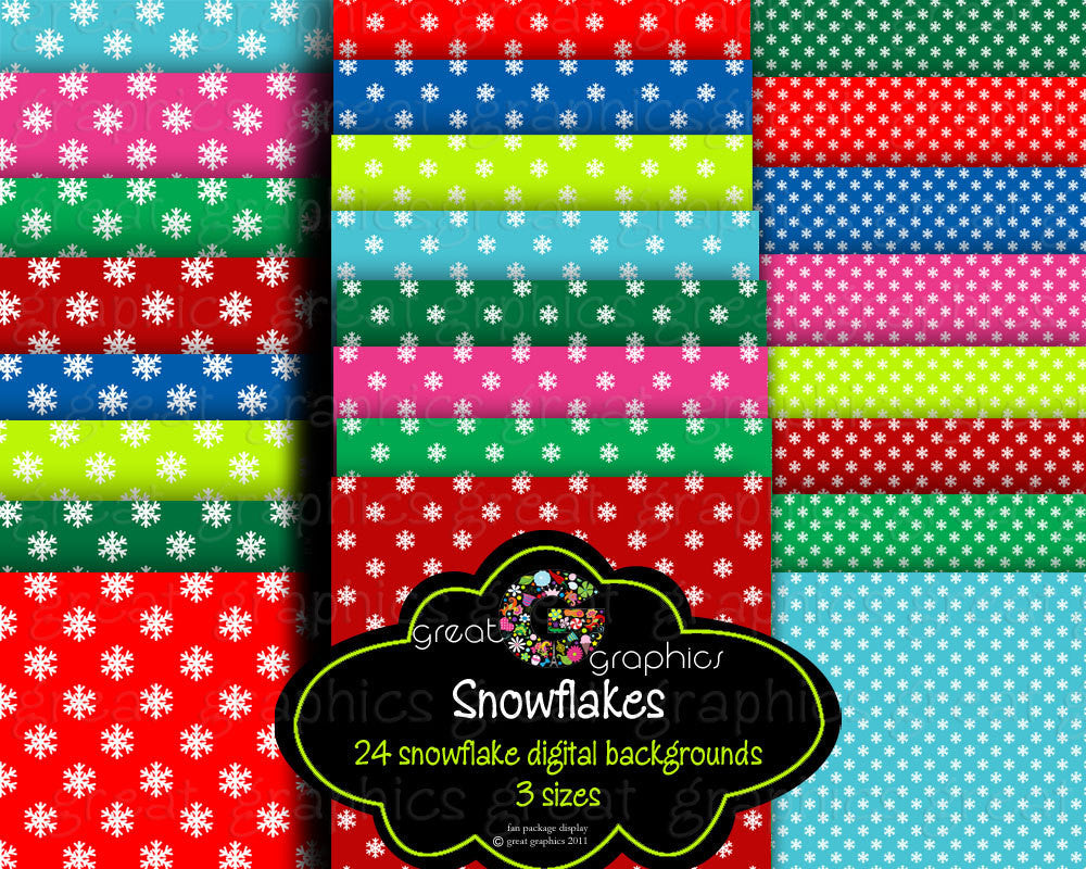 Snowflake Paper Digital Paper Snowflake Pattern Printable Digital Scrapbook Paper Invitation Paper - Instant Download
