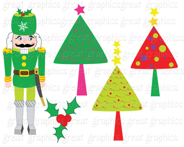 Christmas Clipart Christmas Digital Clip Art Christmas Printable Christmas Tree Clipart Digital Christmas Clip Art - Instant Download
