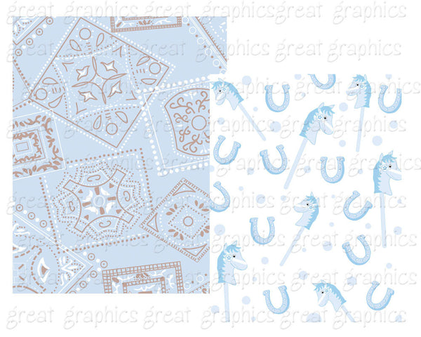 Baby Cowboy Paper Cowboy Digital Paper Baby Blue Cowboy Clipart Cowboy Party Paper Cowboy Clip Art - Instant Download