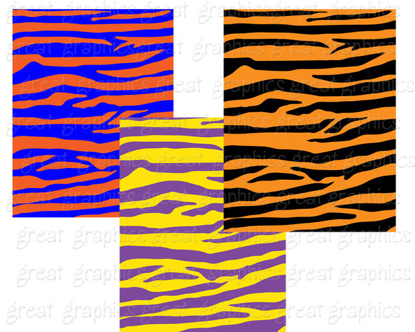Tiger Stripe Animal Print Digital Paper Animal Paper Digital Tiger Stripe Background Printable Instant Download