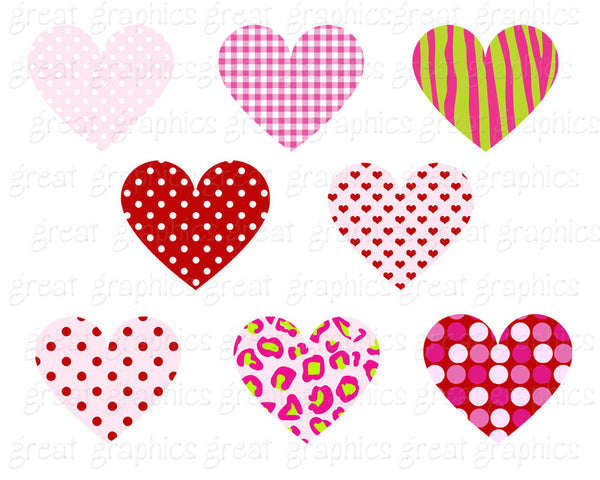 Heart Clipart Heart Clip Art Digital Valentine Clip Art Valentine Clipart Digital Heart Valentine Digital Instant Download