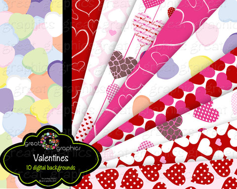 Heart Paper Digital Heart Printable Paper Valentine Printable Paper Digital Valentine Instant Download