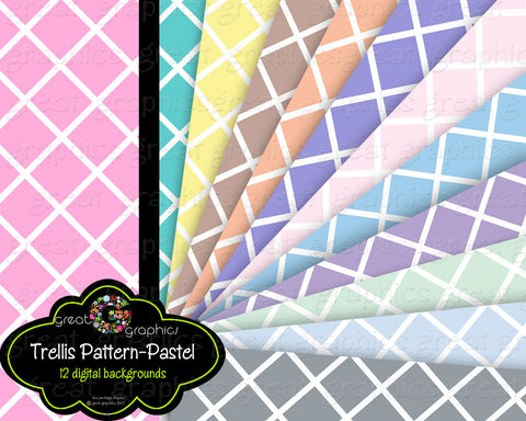 Trellis Pattern Digital Baby Shower Printable Paper Digital Background Party Paper Pastel Digital Paper - Instant Download