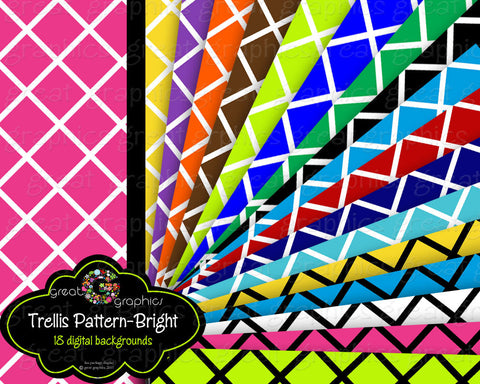 Digital Paper Patterned Paper Digital Background Paper Printable Trellis Pattern Invitation Paper Instant Download
