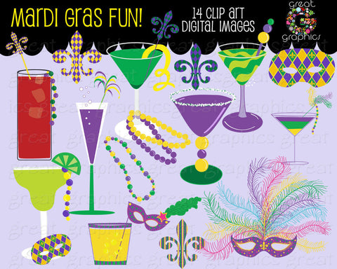 Mardi Gras Clip Art, Mardi Gras clipart, Mardi Gras printable, Mardi Gras Mask, Mardi Gras Beads, Instant Download