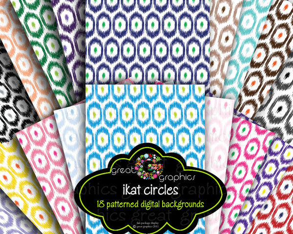 Ikat Paper Ikat Digital Paper Ikat Print Ikat Pattern Printable Digital Background Invitiation Paper - Instant Download