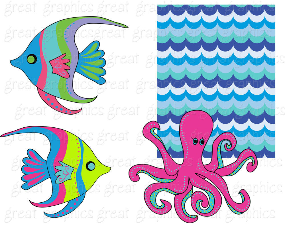 Under the Sea Party Clipart Under the Sea Printable Party Digital ...