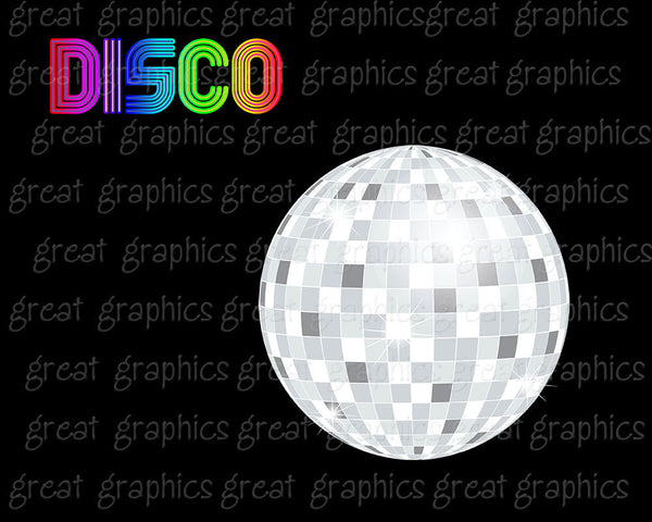 Disco Ball Digital Clip Art Disco Party Retro Clipart Dance Clipart 70s Disco Party Clipart Digital Retro Clip Art - Instant Download