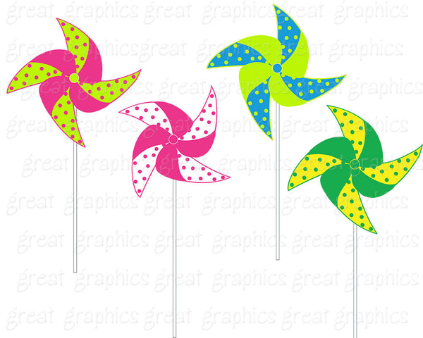 Pinwheel Clip Art Digital Clipart Printable Party Clipart Birthday Party Clipart Party Clipart - Instant Download