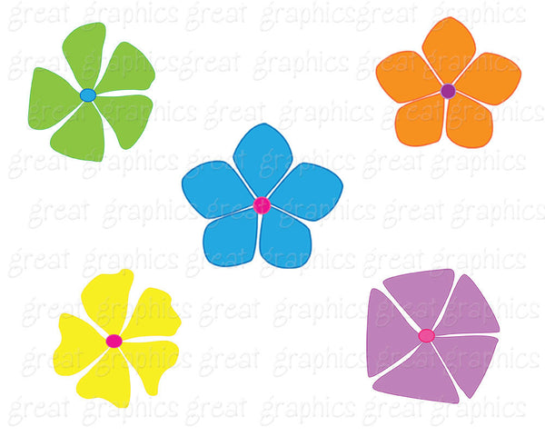 Retro Clipart Retro Flower Clipart Digital Retro Clip Art Flower Printable Flower Clip Art Scrapbook Clip Art - Instant Download