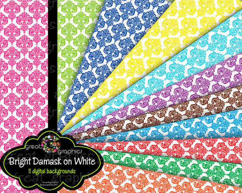 Damask Paper, Digital Damask Paper, Digital Paper, Damask Digital Paper, Printable Damask, Instant Download