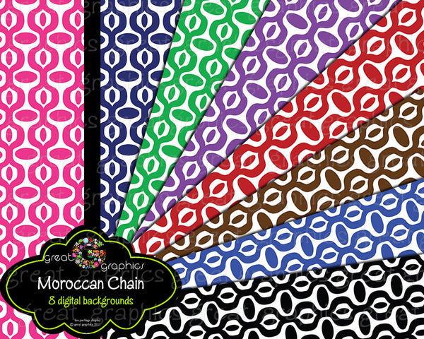 Moroccan Digital Paper Printable Moroccan Pattern Printable Paper Invitation Paper Digital Background - Instant Download