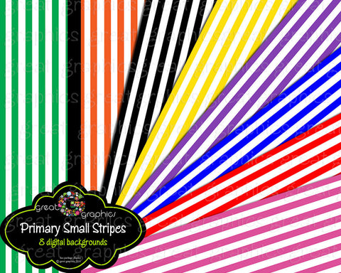 Stripe Digital Paper Digital Striped Paper Invitation Paper Primary Color Background Paper Instant Download