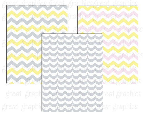 Baby Shower Chevron Digital Paper Invitation Chevron Paper Chevron Print Argyle Paper Printable Paper - Instant Download