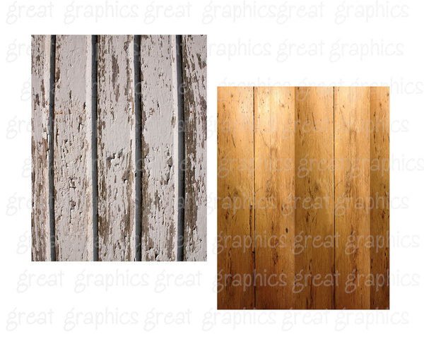 Digital Wood Paper Printable Wood Paper Distressed Wood Barnwood Peeling Painted Wood Digital Paper - Instant Download
