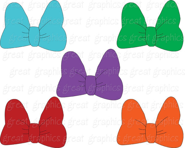 Mouse Bow Clip Art Printable Mouse Bow Clipart Digital Printable Clip Art Girl Clipart - Instant Download