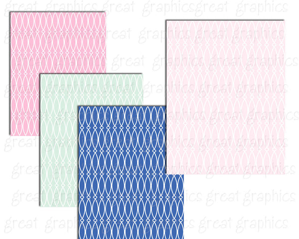 Pastel Circles and Ovals Printable Digital Background Paper Printable Pattern - Instant Download