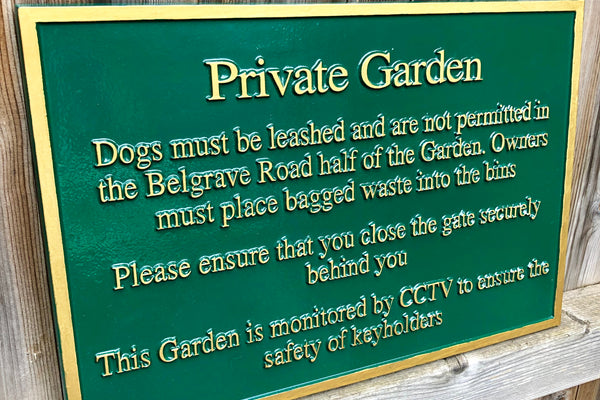 Park And Garden Plaques To Enhance Your Green Space