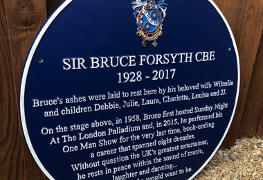 Sir Bruce Forsythe CBE Blue Plaque At The London Palladium