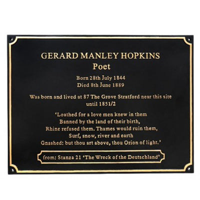Large Cast Memorial Plaques