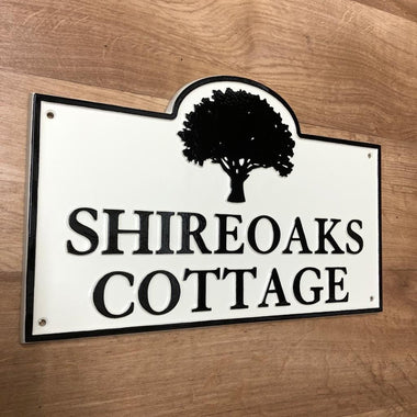 Cast Aluminium Arched House Sign