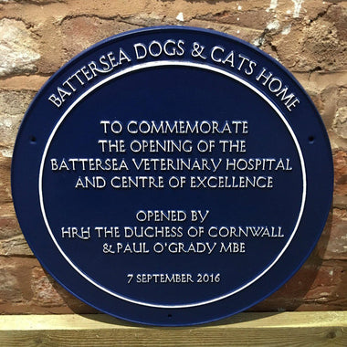 Battersea Commemorative Blue Plaque-Cast Aluminium Commemorative Plaques-Signcast