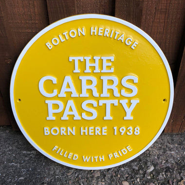 Carrs Pasty Plaque-Cast Aluminium Commemorative Plaques-Signcast