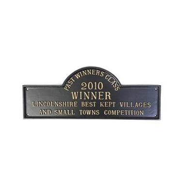 Cast Aluminium Best Kept Village Award Plaque-Award Plaques-Signcast