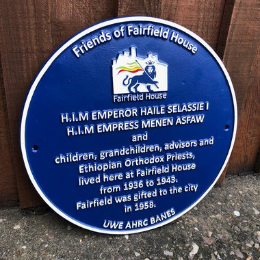 Cast Aluminium Commemorative Blue Plaque-Historical Information Plaques-Signcast