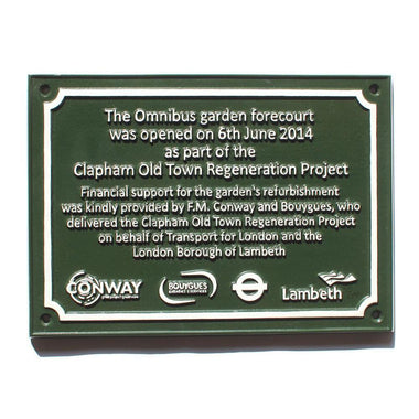 Cast Aluminium Commemorative Garden Plaque-Cast Aluminium Commemorative Plaques-Signcast