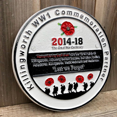 Cast Aluminium Commemorative WW1 Memorial Plaque-Cast Aluminium Commemorative Plaques-Signcast