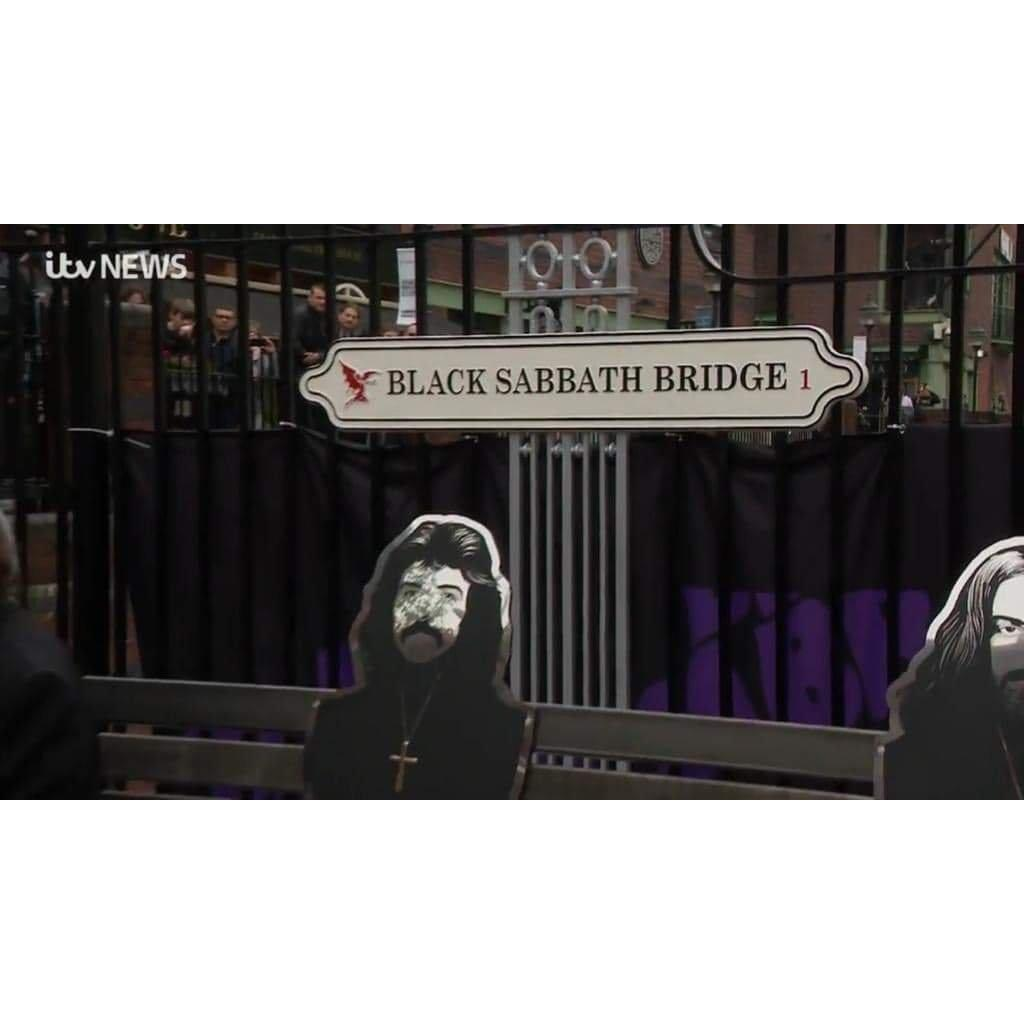 Cast Aluminium Traditional Black Sabbath Commemorative Street Sign-Cast Traditional Street Signs-Signcast