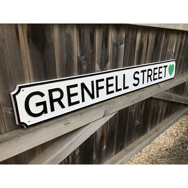 Cast Aluminium Traditional Grenfell Commemorative Street Sign-Cast Traditional Street Signs-Signcast