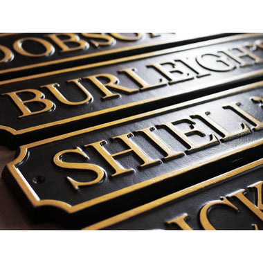 Cast Aluminium Traditional Street Signs-Cast Traditional Street Signs-Signcast