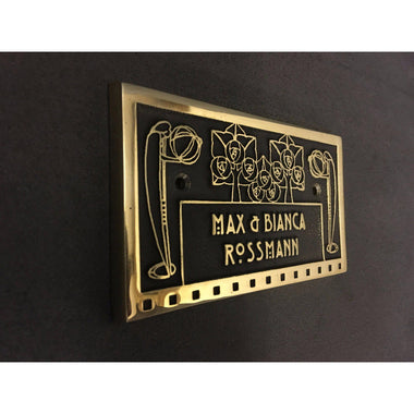 Cast Brass Name Plate-Custom made Cast House Signs-Signcast