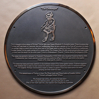 Cast Bronze Commemorative Garden Informational Sign-Cast Bronze Commemorative Plaques-Signcast