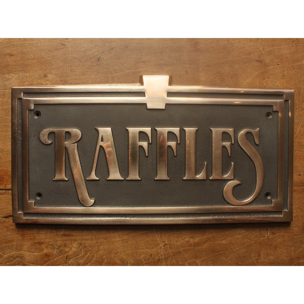 Cast Solid Bronze Custom House Sign-Custom made Cast House Signs-Signcast